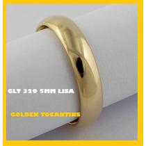 Aliança Mais Barata Casamento Folheada Ouro 18k 5mm Glt 329