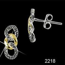 Brinco De Prata 925 Marcassitas E Detalhes Folheados Ouro18