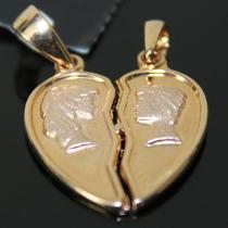Pingente Coração Carametade Folheado A Ouro Rommanel