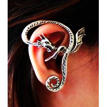 Brinco Ear Cuff Dragão Serpentino Fixação A Pino 55mm