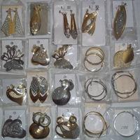 20 Pares De Brincos Metal Dourado S E Prateados-diversos Mod