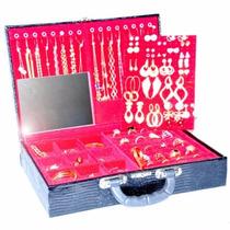 Atacado Kit 160 Pçs Semi-jóias Folheadas+linda Maleta+frete