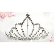 Tiara Coroa Princesa Noivas Festa Com Strass Debutantes