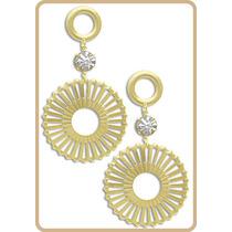 Brincos Coleção - Folheados Ouro 18k - 1 Ano Garantia.
