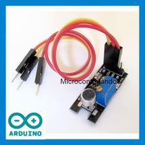 Sensor De Bater De Palmas +cabos+exemplo - Som Ruido Arduino
