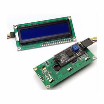 Display Lcd 16x2 Azul Serial Com 2 Pinos Arduino Raspberry