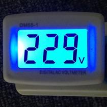 Voltímetro Digital Lcd De Tomada 80~300v Ac Bivolt Indústria
