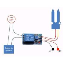Sensor De Umidade De Solo Com Acionamento De Relé