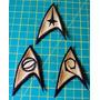 Kit Insignias Tos - Emblema - Jornada Nas Estrelas Star Trek