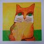Aldemir Martins - Gato Laranja - Em Grande Formato 70x70 Cm