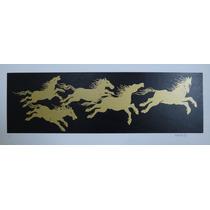 Fang - Serigrafia - Composição C/ Cavalos Coloridos - Rara!