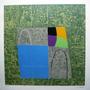 Tito De Alencastro - Composição Abstrata Predôminancia Verde
