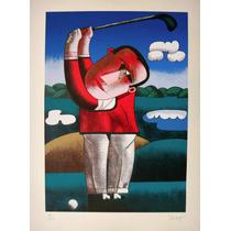 Inos Corradin - Jogador De Golf - Serigrafia Esgotada!!!!!!!
