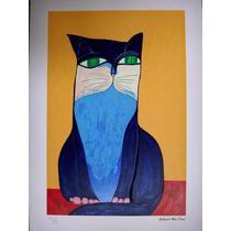 Aldemir Martins - Gato Azul - Serigrafia Muito Especial!