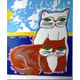 Aldemir Martins Casal De Gatos Serigrafia