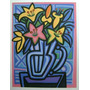 Jorge Dos Anjos - Vaso De Flores Lírios - Serigrafia