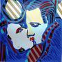 Rubens Gerchman O Beijo C/nf Da Galeria 72x72 Em 12x S/juros