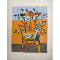 Fang - Composição C/ Cadeira E Flores - Serigrafia Mto Rara!