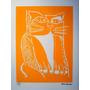 Aldemir Martins - Gato Amarelo - Deslumbrante Serigrafia !!!