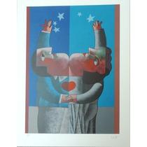 Inos Corradin - Casal - Serigrafia 95/150 - 70 X 50 Cm