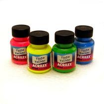 Tinta Para Tecido Fluorescente Neon Acrilex 37ml *escolha*co