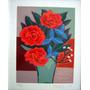 Fang - Vaso Com Flores Vermelhas - Imperdível - Única No Ml