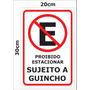 Placa Ps 2mm 20x30 Cm Proibido Estacionar