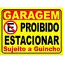2 Placas Ps 2mm 20x30 Cm Proibido Estacionar