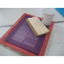 Kit 4 Tela Silk Para Peliculas De Unhas Rendada+tinta+rodo