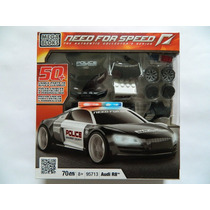 C651 - Audi R8 Polícia - Need For Speed - Mega Bloks - 70 Pç