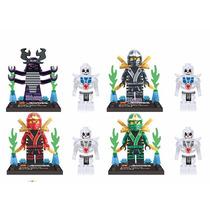 Frete Grátis - Kit Com 24 Bonecos Ninjago Similar Lego