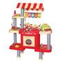 Loja Conveniências Infantil Jogo Kit Moedas Pratos Bel 4895