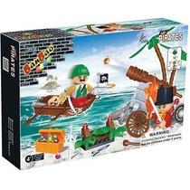 Brinquedo De Montar Invasor Pirata Banbao 8709 Tipo Lego