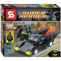 Lego Similar Super Heroes Marvel Batman Com Batmóvel 58 Pcs.