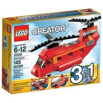 Brinquedo Novo Lego Creator Helicóptero Vermelho 31003