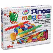 Pinos Mágicos 170 Peças - Brinquedo De Montar - Elka