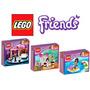 3 Legos Friends Emma Mia Kate Moto Karate 211 Peças Oficial