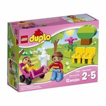Brinquedo Blocos Montar Lego Duplo Mamãe E Bebe Baby 10585
