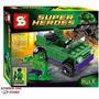 Lego Similar Super Heroes Hulk Com Jipe 62 Pcs. Excelente !!