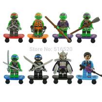 Kit 8 Minifigures Tartarugas Ninjas