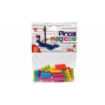 Pinos Mágicos 30 Peças Brinquedo De Montar Elka + Nf