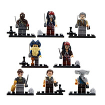 Kit 8 Bonecos Piratas Do Caribe Jack Sparrow - Padrão Lego