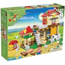 Brinquedo Blocos Montar Banbao Casa Da Fazenda Animais 8572