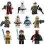 Kit 10 Bonecos Star Wars Clone Wars Obi Wan - Tipo Lego