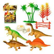 Dinossauro Plastico 4 Peças Frete Grátis