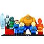 Kit 7 Bonecos Quarteto Fantástico Marvel - Padrão Lego