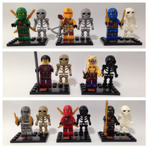 Lego Compatível - Kit 8 Bonecos - Ninjago C/ Caveiras