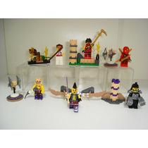 Ninjago Kit 6 Bonecos + Acessórios = Lego Ninja Go
