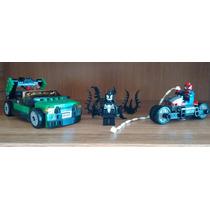 Decool Lego Homem Aranha, Venom, Nick Fury E Veículos.