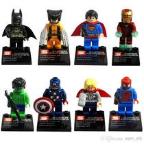 Kit Tipo Lego Super Heróis Wolverine - 8 Bonecos